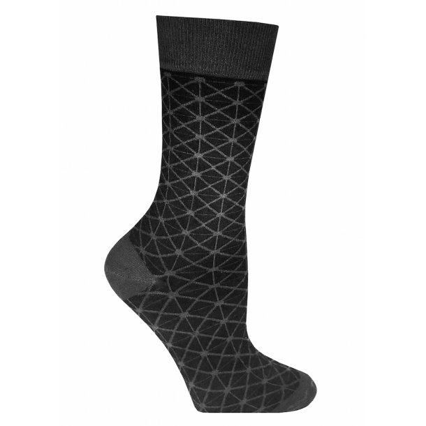 Bamboo socks without compression, black retro