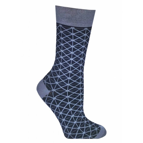 Bamboo socks without compression, blue retro