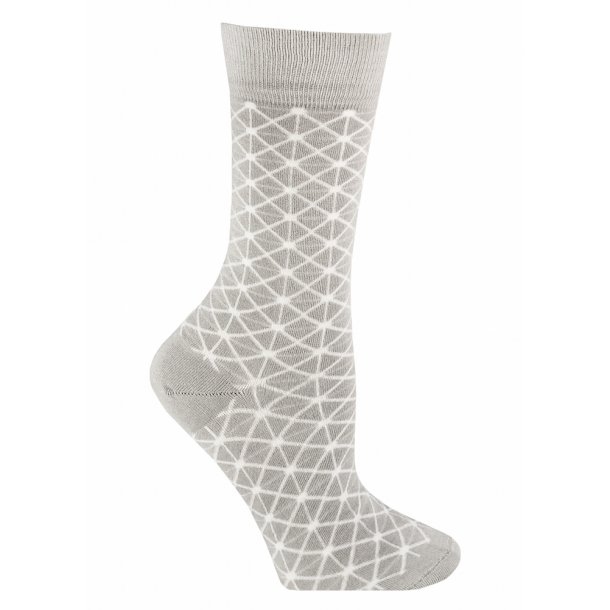 Bamboo socks without compression, grey retro