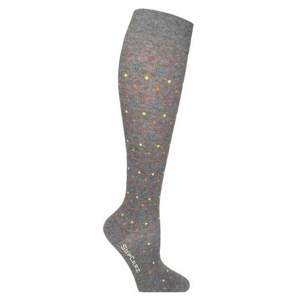 Compression stockings grey with dots
