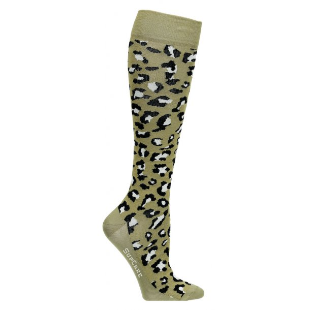Compression stockings, green leopard