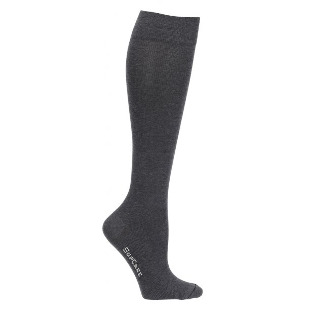 Compression stockings with wool, grey