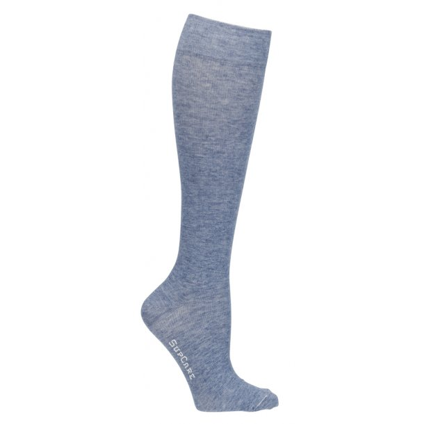 Compression stockings with wool, Jeans blue