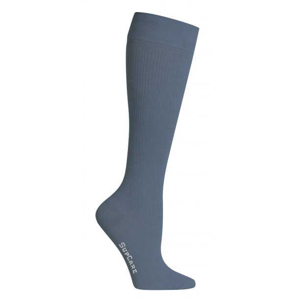 Compression stockings with wool, blue