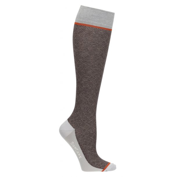 Compression stockings with wool, Business brown