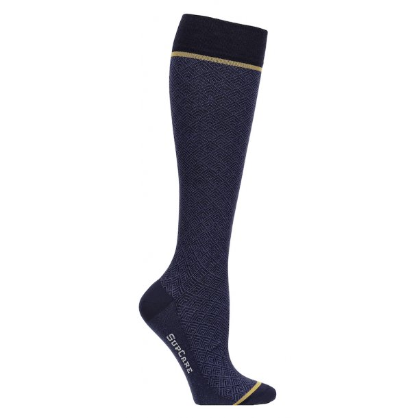 Compression stockings with wool, Business blue