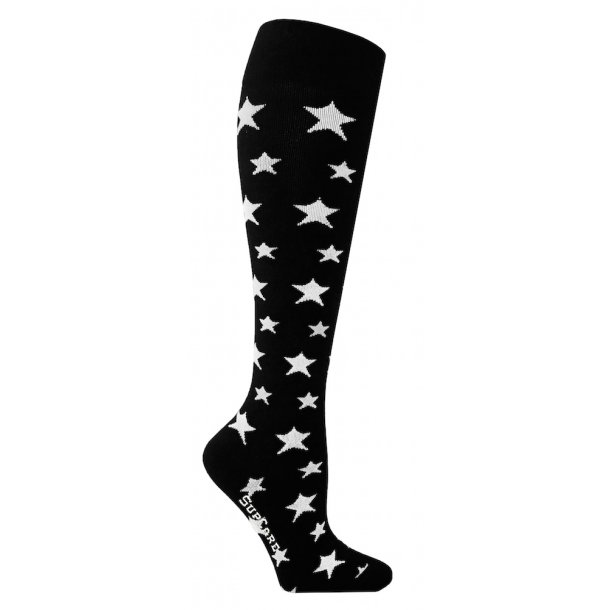 Compression stockings with white stars