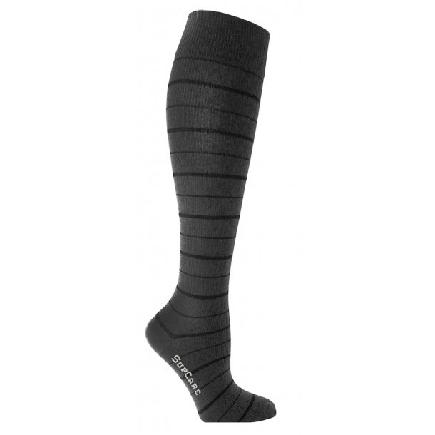 Compression stockings black stripes with Bamboo fibers