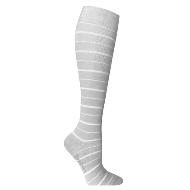 Compression stockings grey stripes with Bamboo fibers