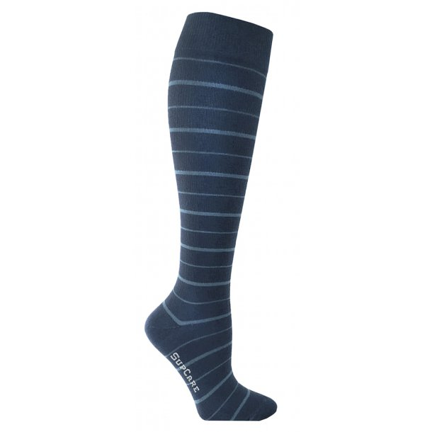 Compression stockings Bamboo fibers with blue stripes
