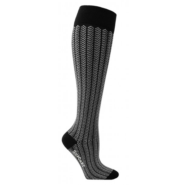 Compression stockings with black herringbone