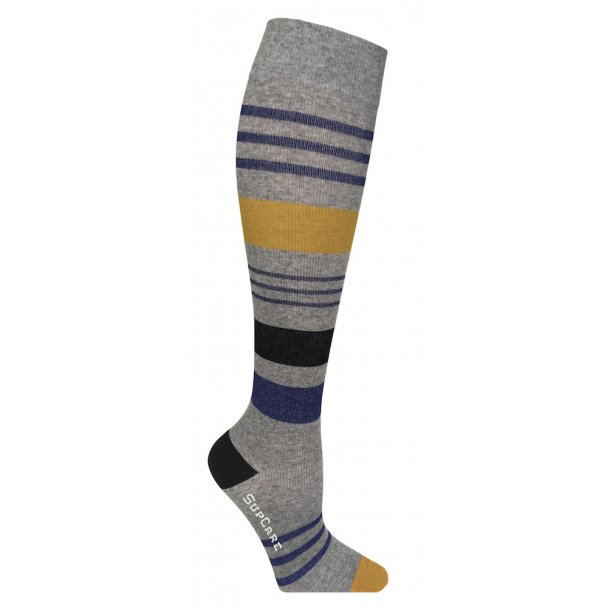 Compression stockings grey with stripes