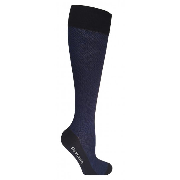 Compression stockings bamboo Blue pattern