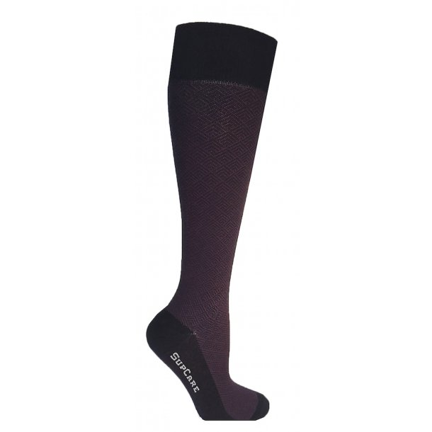 Compression stockings Bamboo fibers red pattern