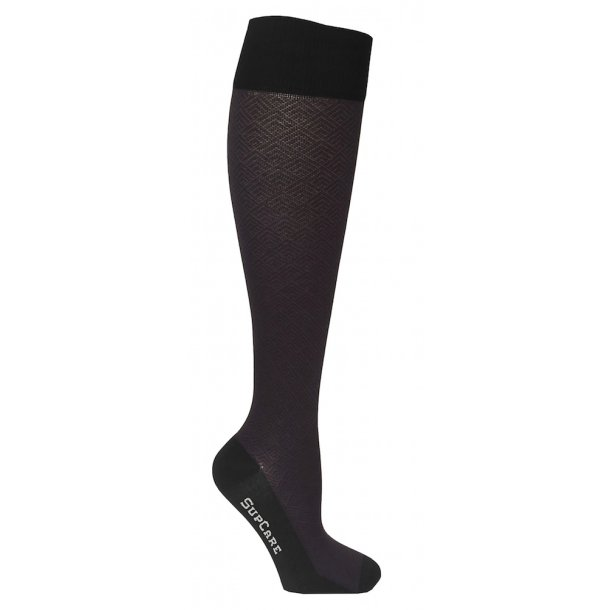 Compression stockings Bamboo fibers brown pattern
