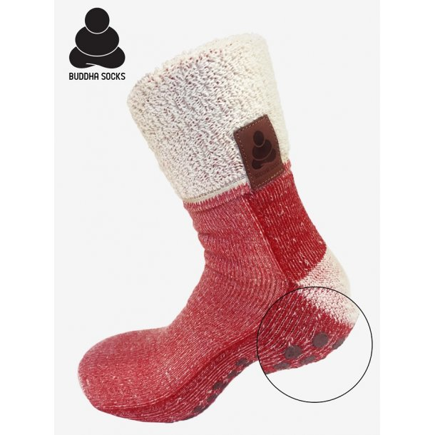 Buddha Socks Red