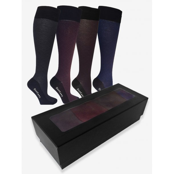 Giftbox 4 pairs of Compression stockings with Bamboo fibers