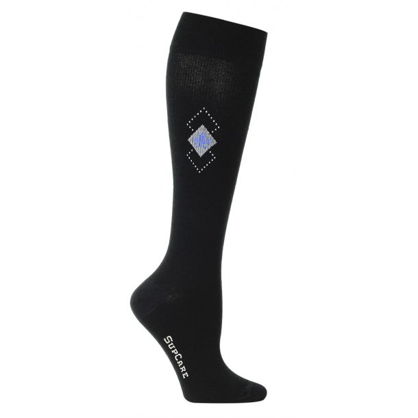 Compression stockings with window