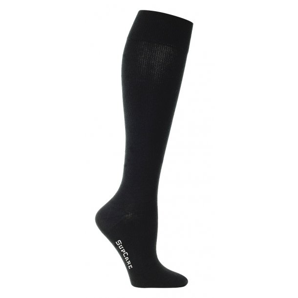Compression stockings black WIDE CALF