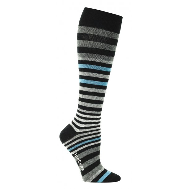 Compression stockings with multi stripes