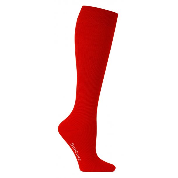 Compression stockings red with Bamboo fibers