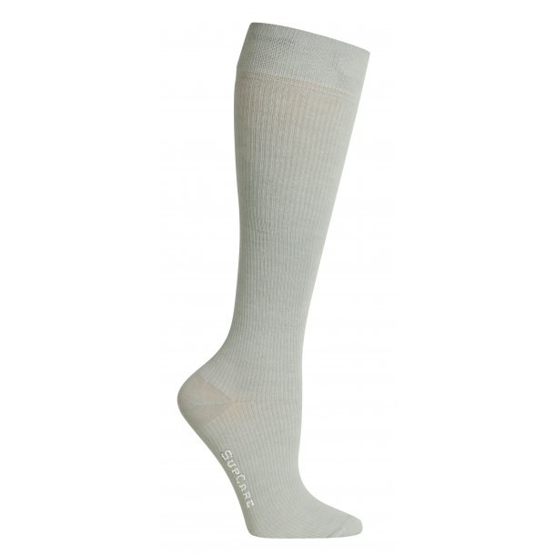 Compression stockings bamboo, grey, WIDE CALF