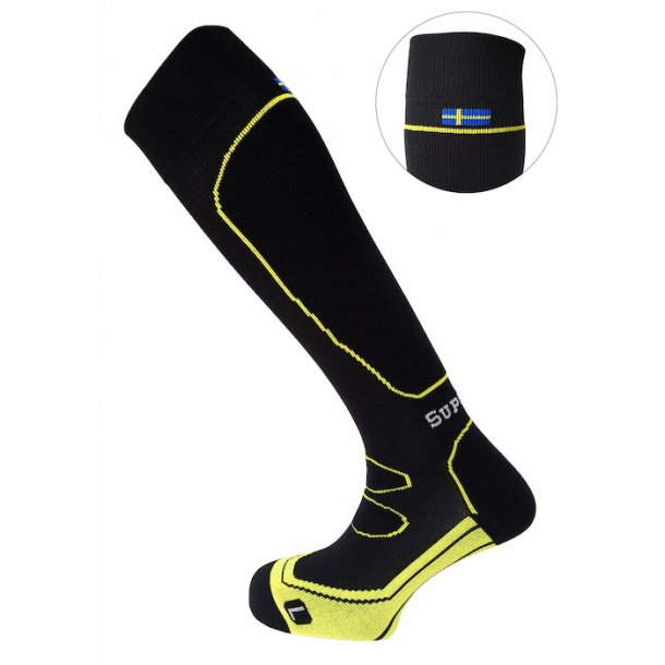 SupCare sports compression socks - With the Swedish flag