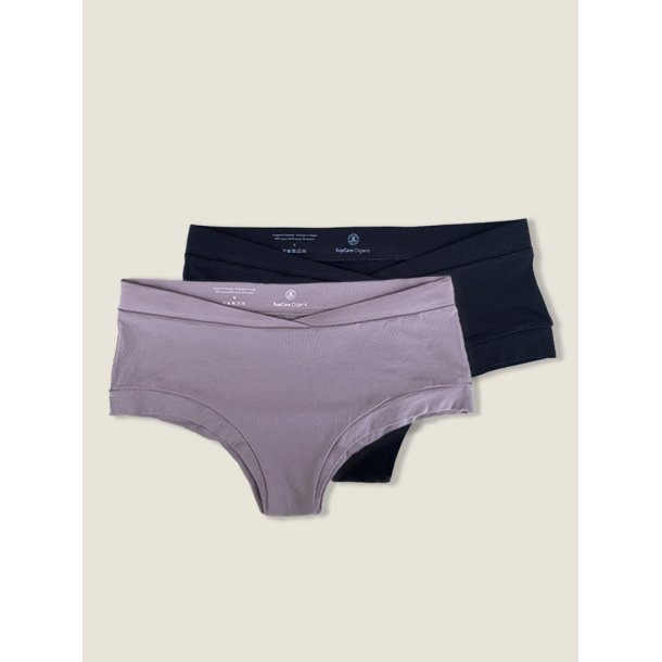 Briefs, 2 pack, black and lilac