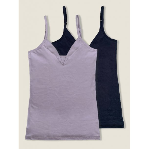 Top, 2 pack, black and lilac