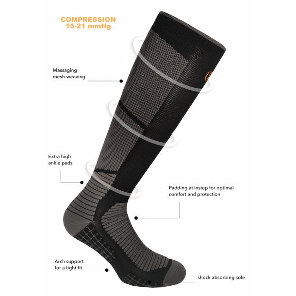 Compression socks, Extreme Bounce by SupCare, black