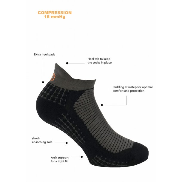 Ankle compression socks Extreme Bounce, black