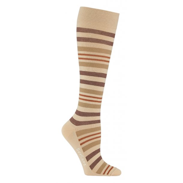 Compression stockings bamboo, nature stripes