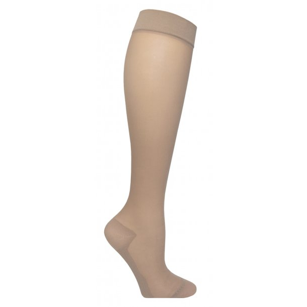 Nylon compression stockings, beige