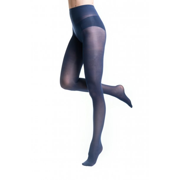 Compression tights Microfiber, Navy 140 Den