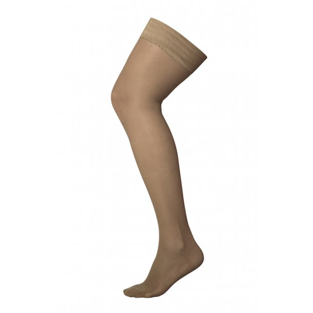 Compression stockings class 2, AGH, Stay-Up, beige, with toe (140 D)