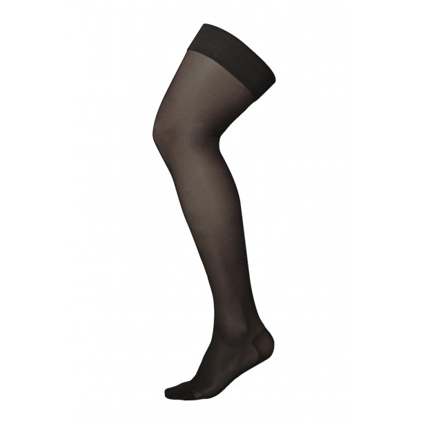 Compression stockings class 2, AGH, Stay-Up, black, with toe (140 D)