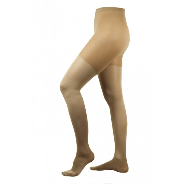 Compression tights class 2, AT, beige, with toe (140 D)