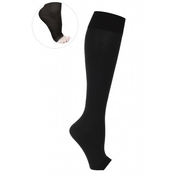 Compression stockings class 2, AD, black, without toe