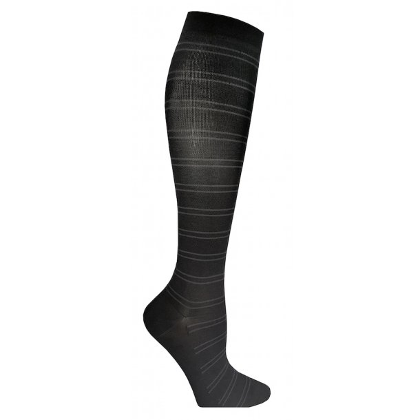 Compression stockings class 2, AD, black with stripes