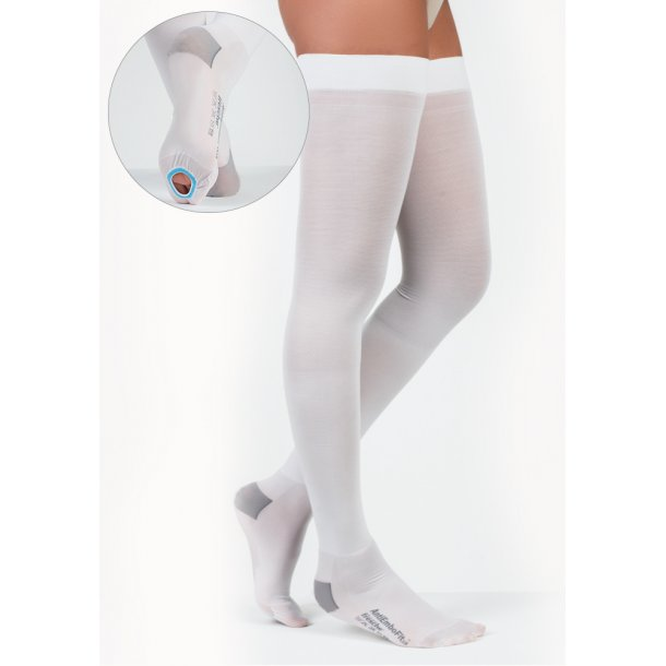 Anti-Embolism Elastic Stockings AGH white