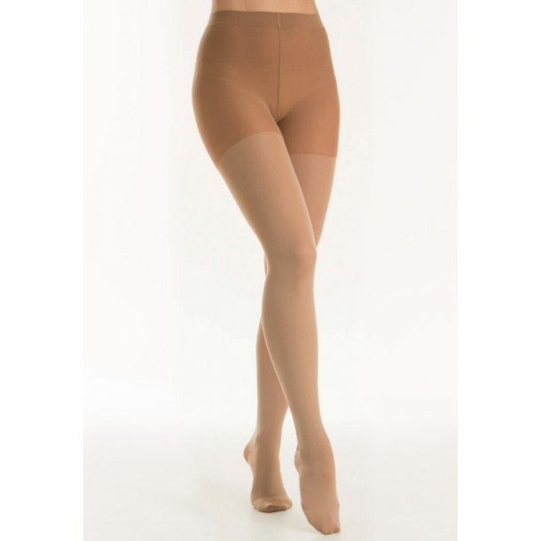 Medical compressiekousen panty klasse 2, AT, natuur, met teen