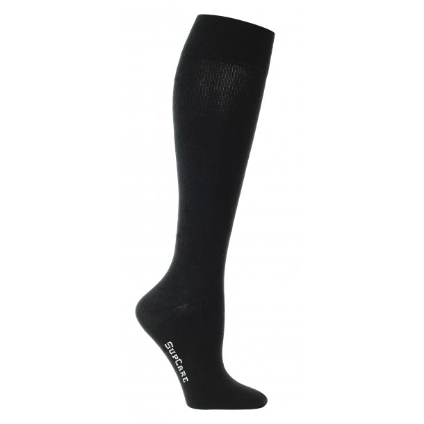 Compression stockings with cotton and wool, busines black