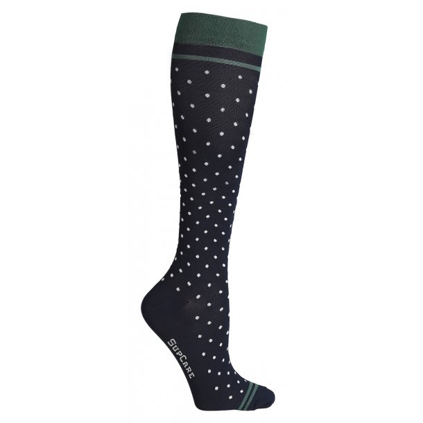 Compression stockings class 2, AD, black with dots