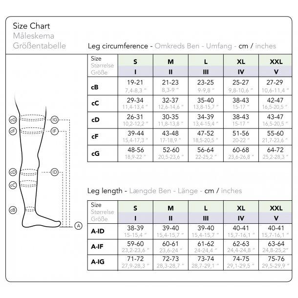 Kompressionsstrümpfe Klasse 2 Ad Schwarz Mit Zehen 140 D