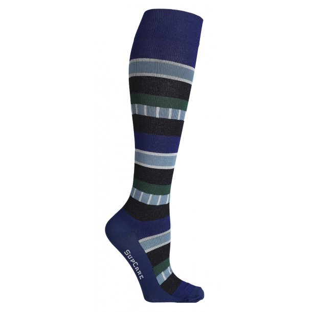 Compression stockings, Indie stripes blue/green