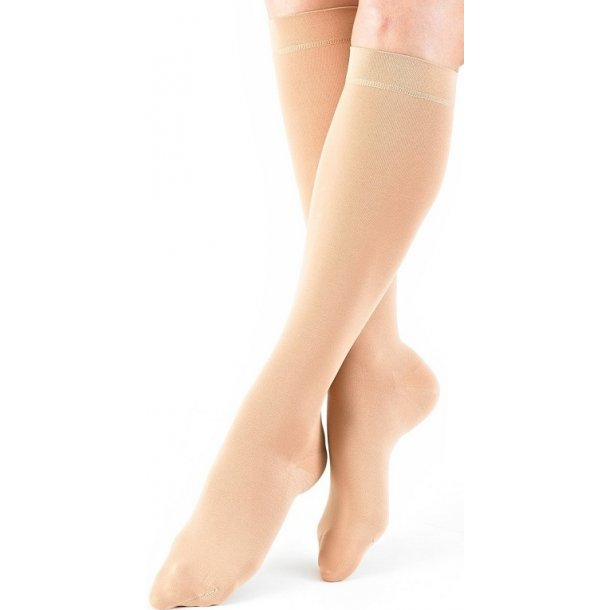 Medical compression stockings class 2, AD, beige, with toe