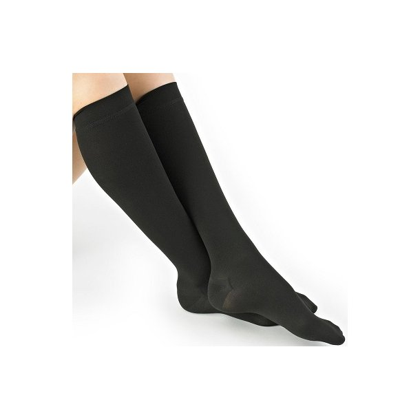 Medical compression stockings class 2, AD, black, with toe