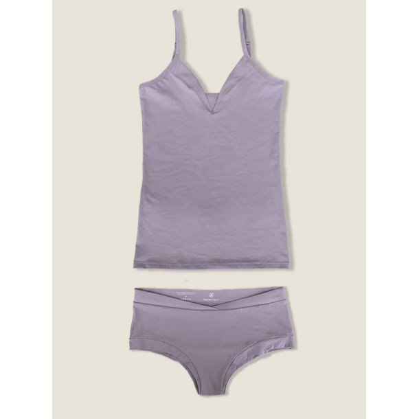 Top and brief, set, lilac