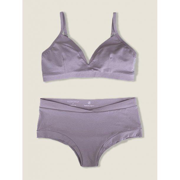 Bra and brief, set, lilac